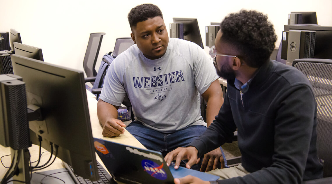 Webster students in computer lab
