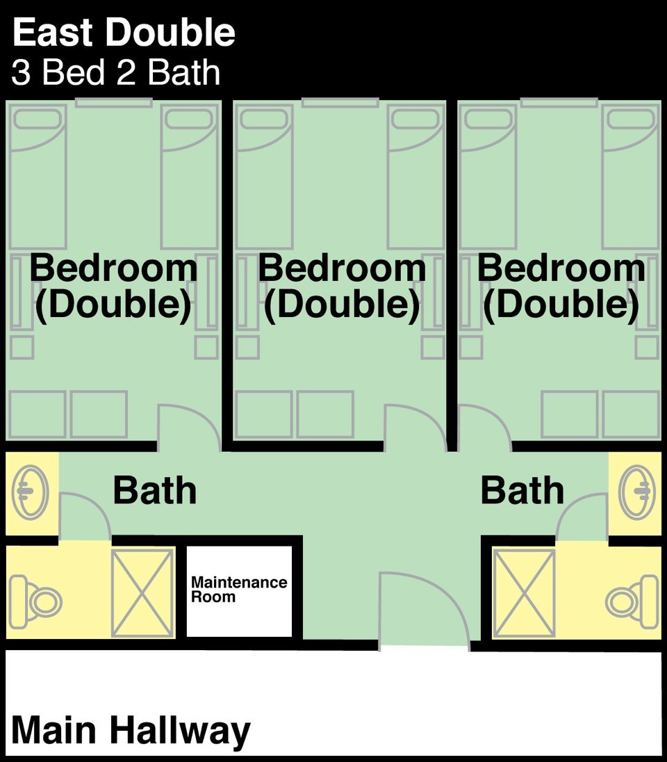 East Hall 3 Bedrooms