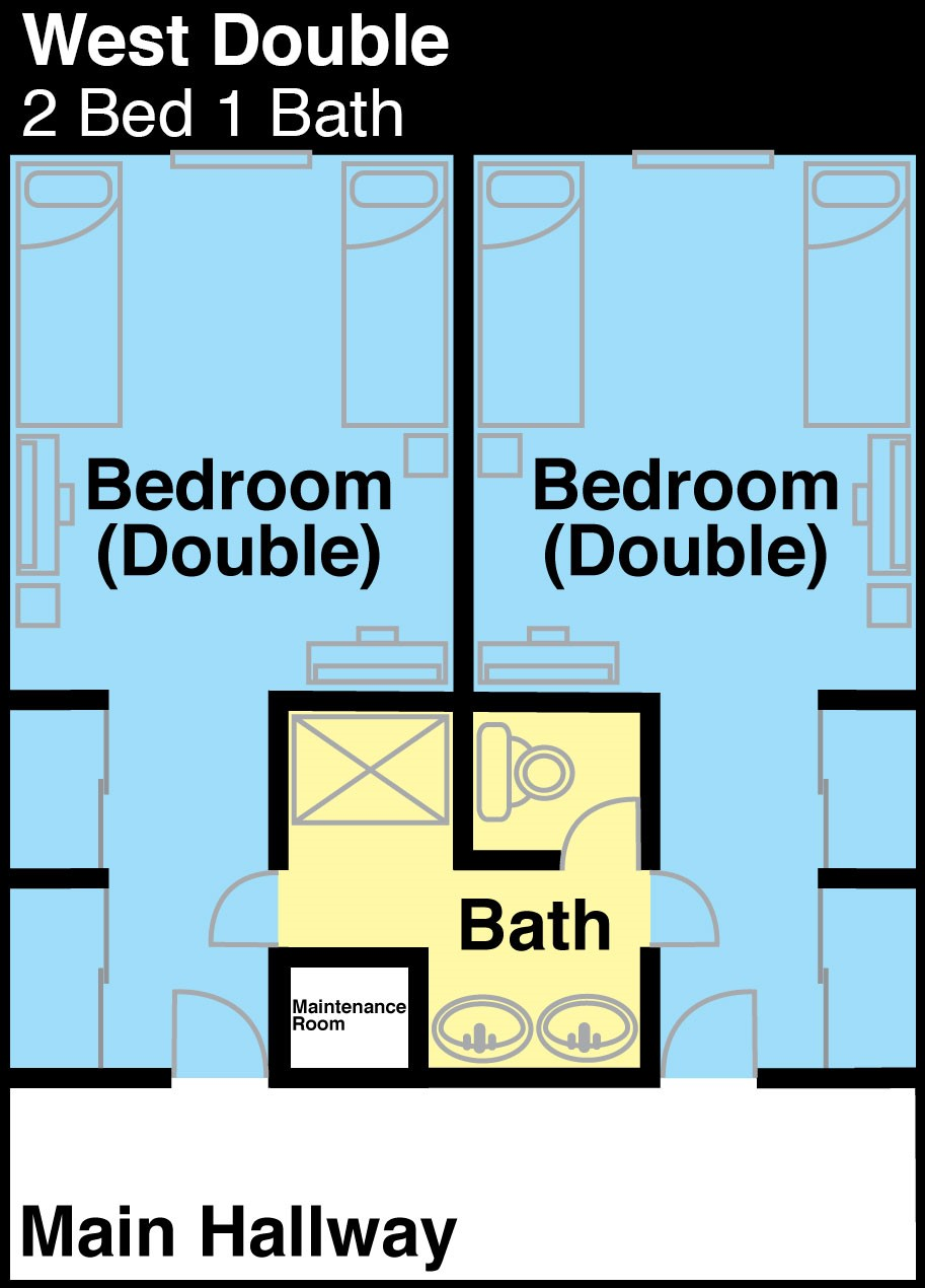 West Hall 2 Bedrooms